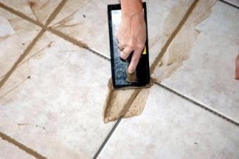 grouting tile