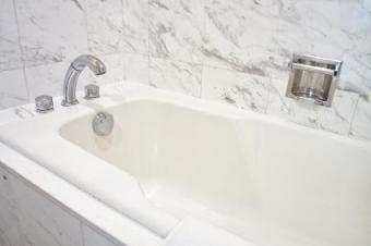 Self adhesive wall tile can give your bathroom a new look.