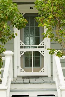 Exterior Wood Door with Screened Window