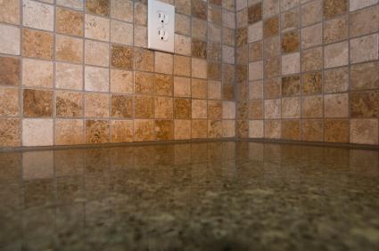 Rustic Stone Kitchen Backsplash