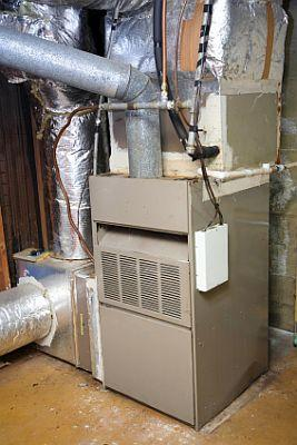 old gas furnace