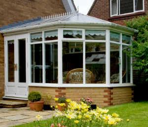 Arge sunroom windows on a conservatory.