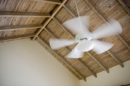 ceiling fan installed on a vaulted ceiling