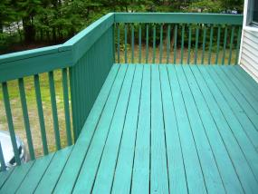 Simple style deck railing