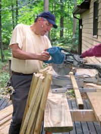 Cutting deck railings