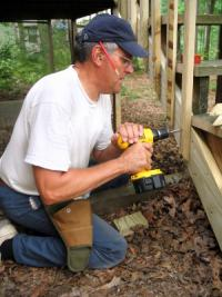 Attaching the balusters