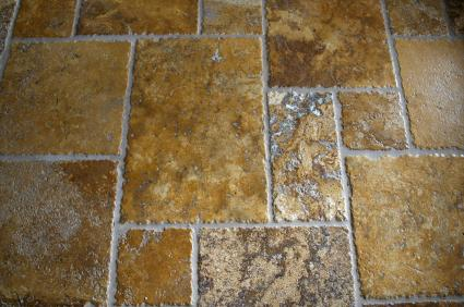 Travertine Noce floor tiles
