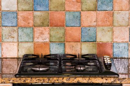 Handmade ceramic tile backsplash