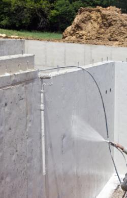 Waterproofing a basement exterior