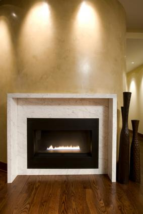 Prefab gas fireplace