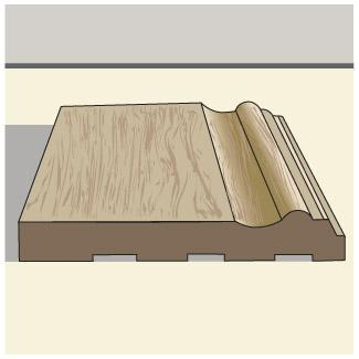 Mid-height baseboard trim