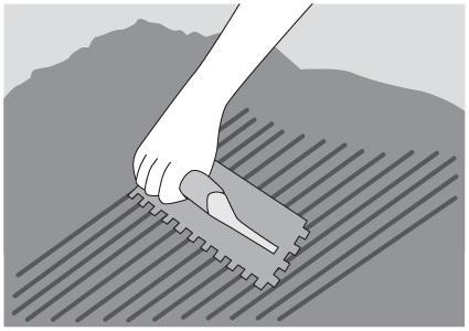 Spreading mortar diagram