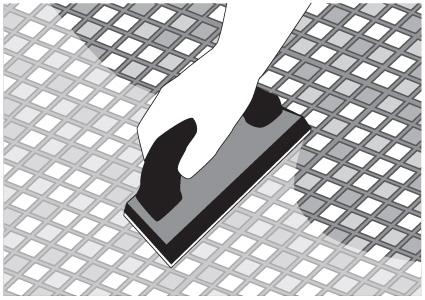 Spreading grout diagram