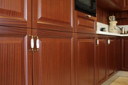 Kitchen cabinet close-up