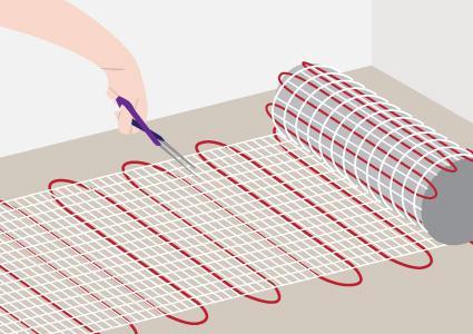 Installing radiant floor heat wire mats 1