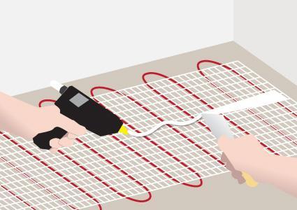 Installing radiant heat wire 2