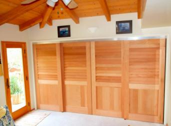Cedar Sliding Closet Doors from Kestrel Shutters and Doors