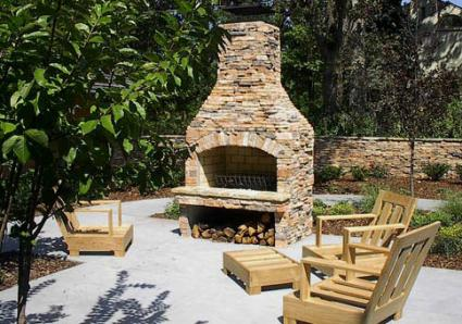 Outdoor Fireplace Kit From Stone Age Manufacturing, Inc.
