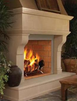 Vantage Hearth Oracle 42 Inch Wood Burning Mosaic Masonry Outdoor Fireplace from eFireplaceStore.com