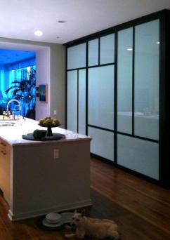 Glass closet doors from The Sliding Door Company