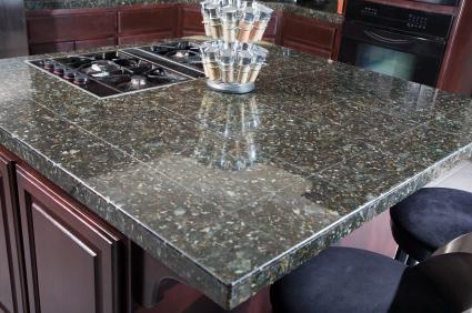 Granite tile counter