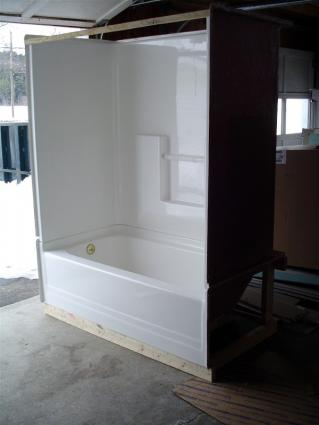 Fiberglass Tub and Surround