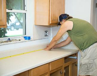 Measuring kitchen countertop