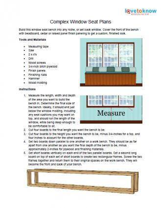 Astounding Window Seat Plans Lovetoknow Gmtry Best Dining Table And Chair Ideas Images Gmtryco
