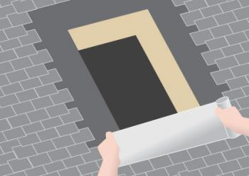 Flashing the sill with self-adhesive membrane