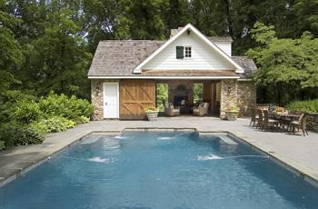 Pool house barn | Photo courtesy Gardner/Fox