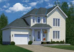 Traditional lap vinyl siding