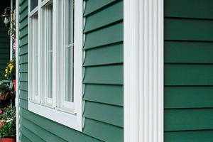 Traditional clapboard, or lap, siding