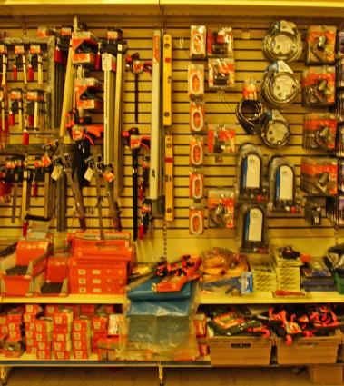 hardware store tools