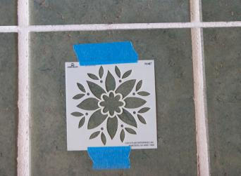 tile stencil painting technique