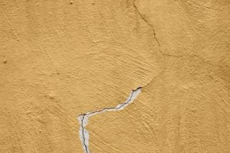 Crack in cement wall