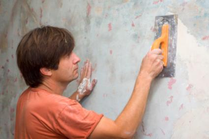 Spackle and smooth out