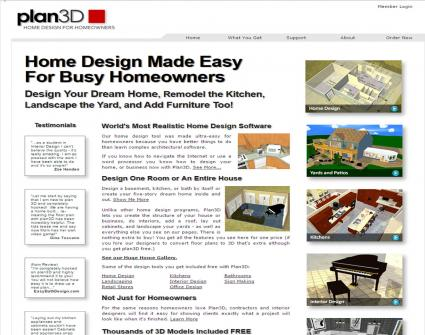 Plan 3D website screenshot