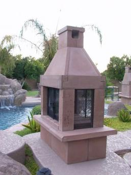 Includes: types of kits for outdoor fireplaces