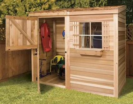 Cedarshed's Bayside Storage Shed Kit
