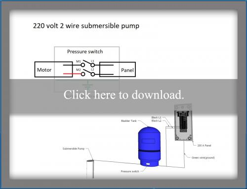 2 wire 220 volt diagram 4 wire 220 volt wiring diagram submersible well pump wiring diagrams | lovetoknow #7