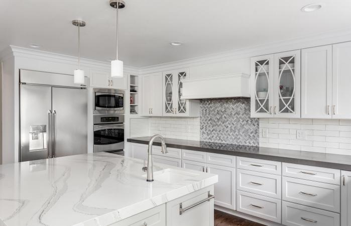 beautiful kitchen in new luxury home