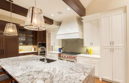 Quarts Countertops in a Kitchen