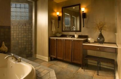 warm bathroom color schemes bathtub tile ideas lovetoknow 21348