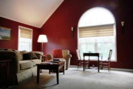 Burgundy Colored Room