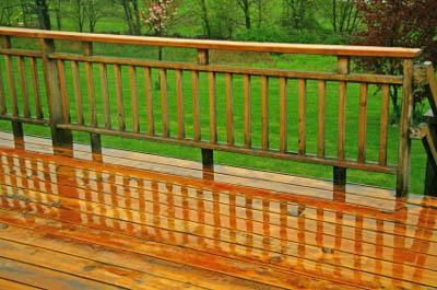 Wood Deck Railing