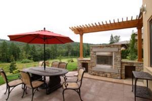 Southwestern style fireplace
