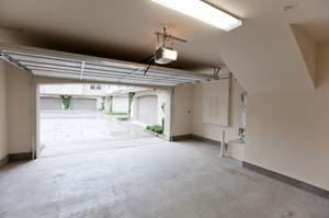 Garage door opener in use.