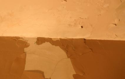water damaged wall