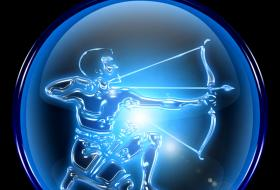 Illustration of the Sagittarian archer symbol