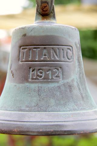 replica of Titanic bell